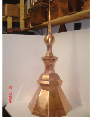 Copper-Roofing-Turret-Finial-8s-Octagon