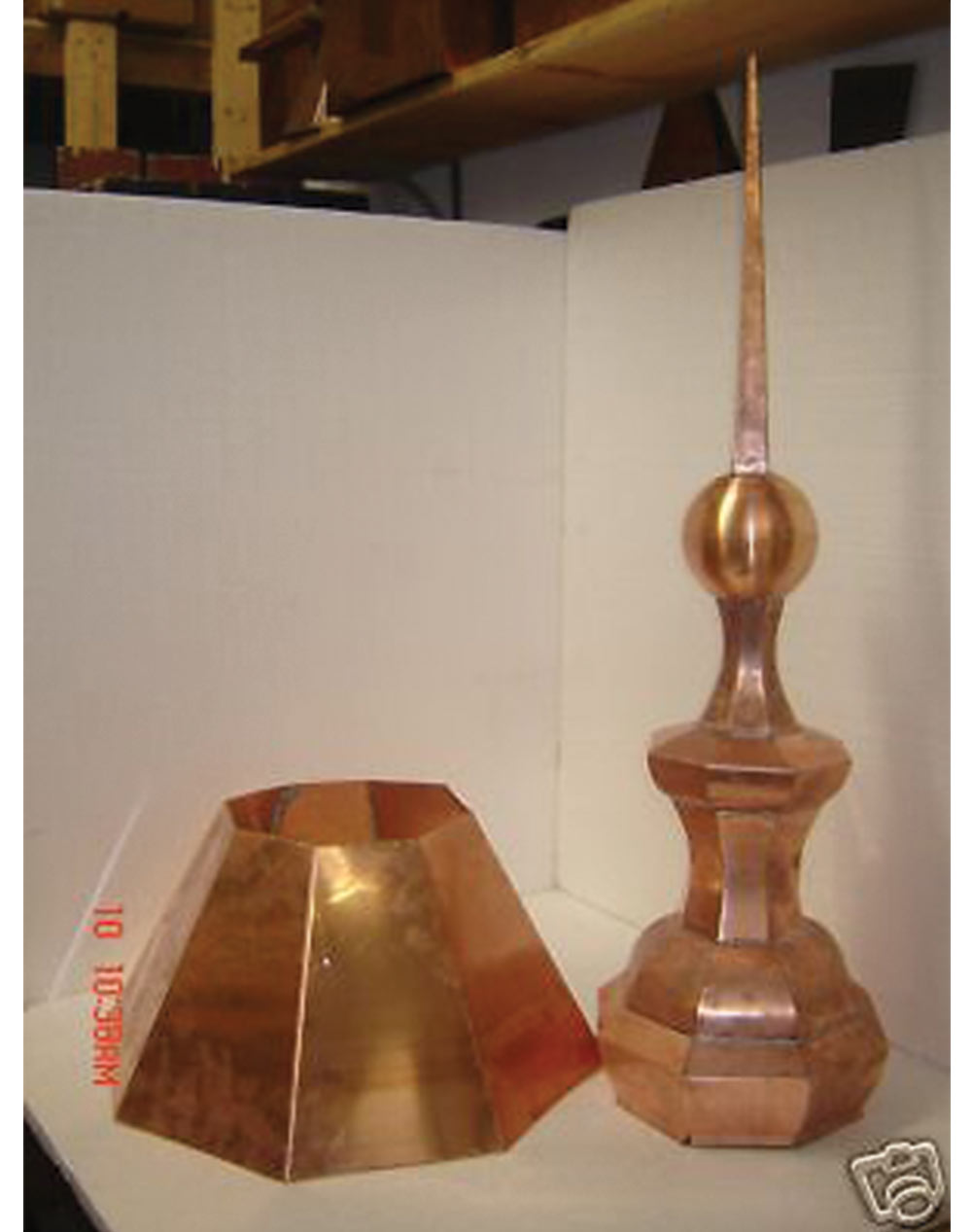 Copper Roofing Turret Finial 8s Octagon Home Of Copper Art