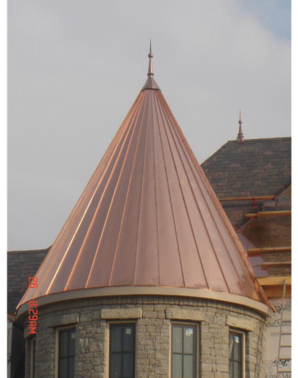 Copper Roofing Finial Spire Cap Tower Turret Octagon Or