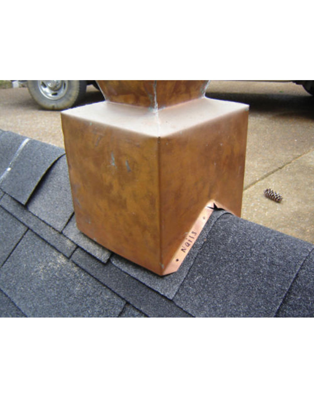DECORATIVE COPPER  FINIAL HOME DECOR,ROOFING RIDGE COPPER CAP