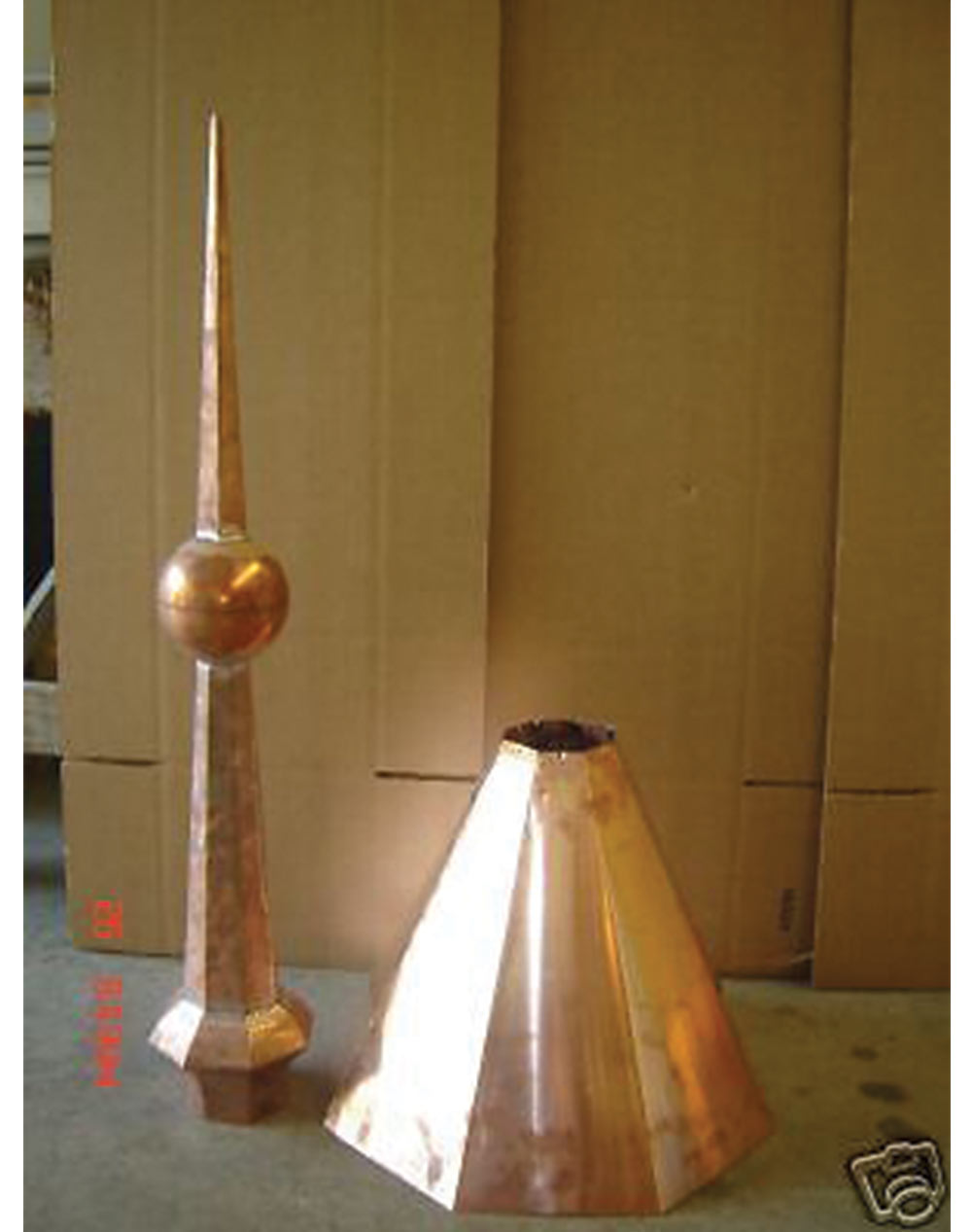 Copper Turret Finial Octagon Cupola 55 Tall Home Of