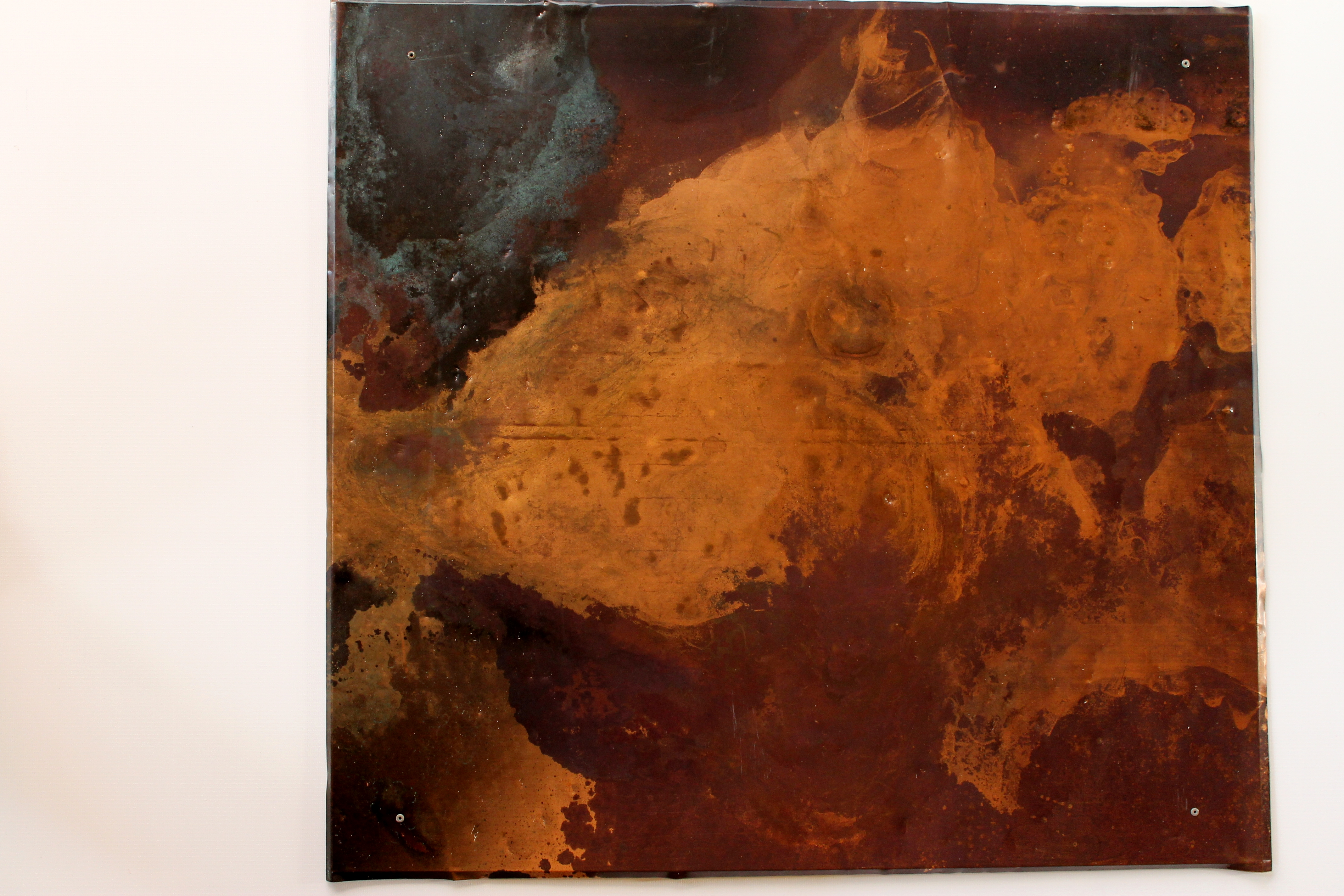 Abstract Copper Wall Sculpture Iii