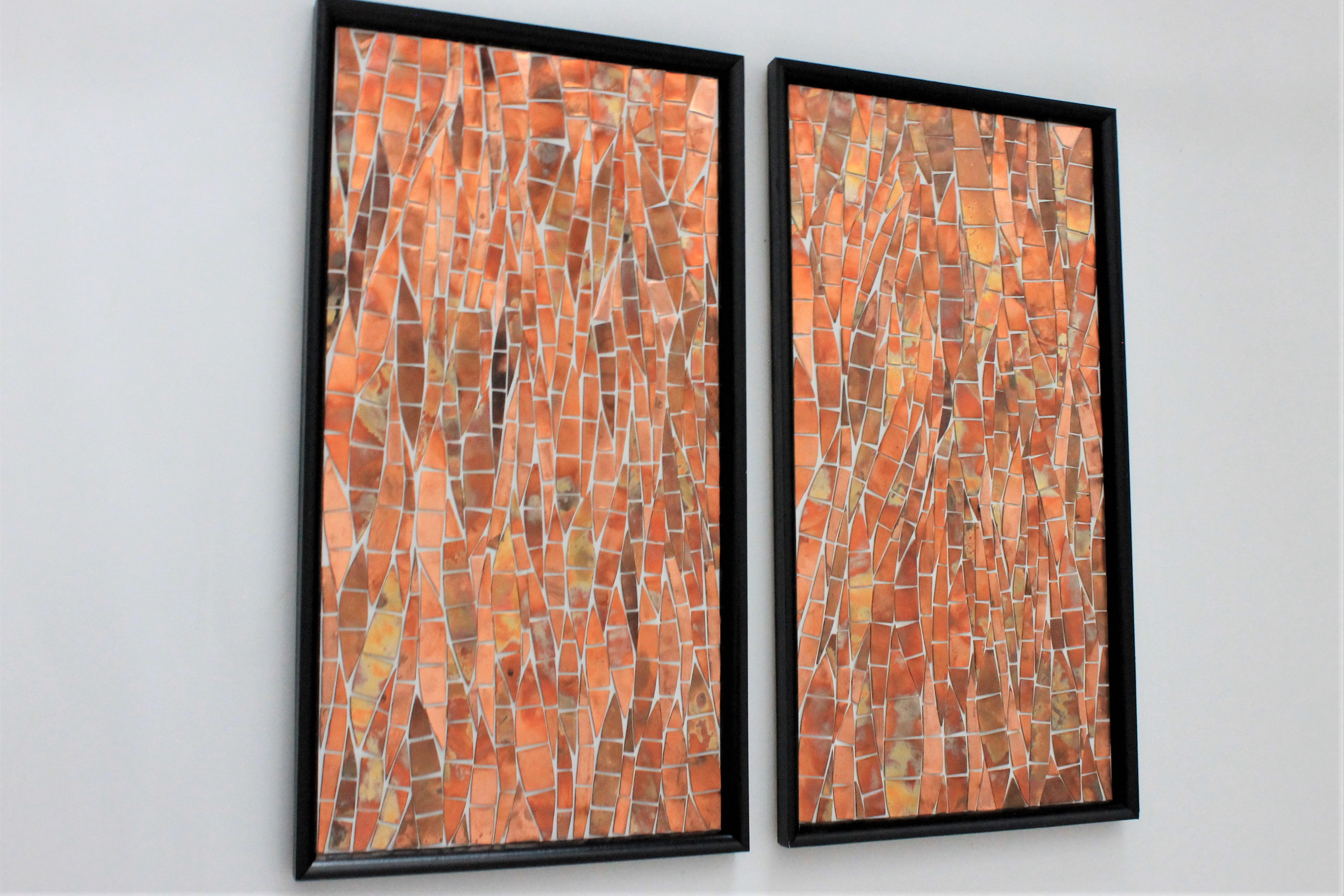 Abstract Copper Picture 2 Panels Home Of Copper Art
